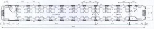 Train Chartering - Swiss rail SBB / SFF First seat plan