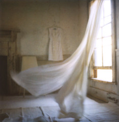 blurrywindy (danske) Tags: polaroid blurry curtains onlocation artlibres