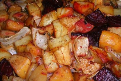 Roasted Winter Root Veggies ala Mark Bittman