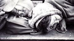 Riding the Pine (eks4003) Tags: sf sanfrancisco city sleeping urban woman bench women alone sad crashed sleep homeless poor citylife help together asleep zzz helpless alienated