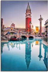 Reflections at the Venetian (vw4ross) Tags: bridge vegas tower water reflections canal lasvegas handheld gondola vene