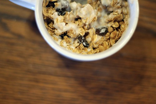 granola + yogurt