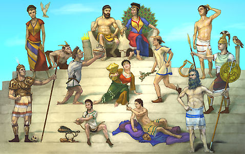 gods of greece by eytnosboh.