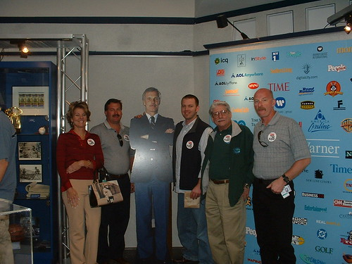 Tyler and co-workers with Ted Turner
