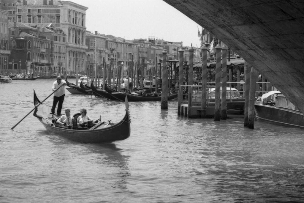 Venice Gondolier under Rialto Bridge