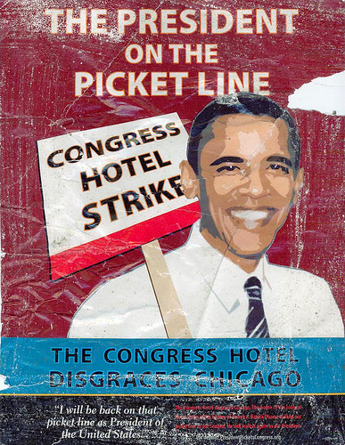 President on the Picket Line