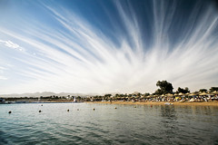 Sharm El Sheikh. Naama Bay. (WomEOS) Tags: travel sky people holiday beach boat redsea egypt sharmelsheikh 2009 naamabay