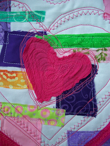 Heart with patchwork (close-up)