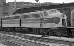 Erie Lackawanna EMD E-8 830 (old_skool_metal_head) Tags: railroad robert diesel tx © locomotive e8 emd diesellocomotive erielackawanna mansfieldohio kodaktrixpan escue trix5063 emde8
