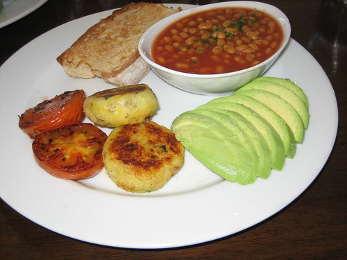 vegetarian breakfast at bluewater cafe
