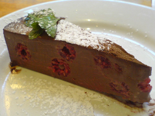 Chocolate and Raspberry Truffle Torte