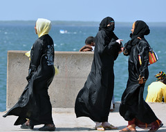 Onde Swahili (sambukot) Tags: africa travel ladies photo interestingness amazing nikon women veil kenya muslim group hijab safari lamu niqab viaggio spiaggia velo swahili the musulmana d