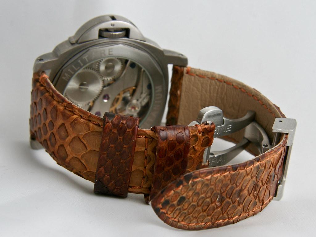 Tan python leather strap on Marina Militare #1