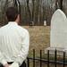 Ken Jones at Nancy Hanks Gravesite