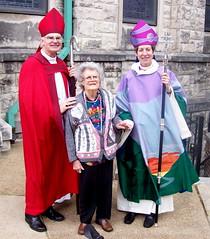 Bishop Don Johnson; pioneering female photographer Nadia Price Bates Strid and Presiding Bishop Katharine Jefferts Schori