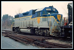 Delaware and Hudson lightning stripe livery (SemmyTrailer) Tags: gm railway trains railroads emd gp382 delawareandhudson thedh