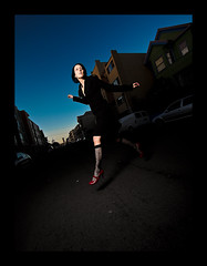 Day Sixty Seven (Dustin Diaz) Tags: sanfrancisco lighting red portrait sky jump model nikon shoes wideangle fancy 365 missiondistrict skip featured project365 strobist dustindiazcom erincaton d700 sb900 1424mmf28g dedfolio