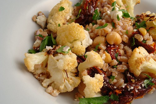 Roasted Cauliflower and Farro Salad