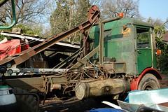 AEC Matador timber crane (fryske) Tags: abandoned truck junk timber lorry scrapyard scrap derelict sawmill aec