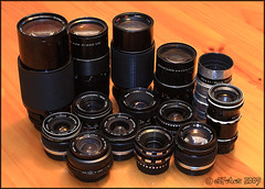 Others ... (eSFotos) Tags: ross focus olympus german m42 manual om pentacon vivitar yashica lenses kiron lydith yashinon isco berolina gottingen meyeroptik trioplan isconar