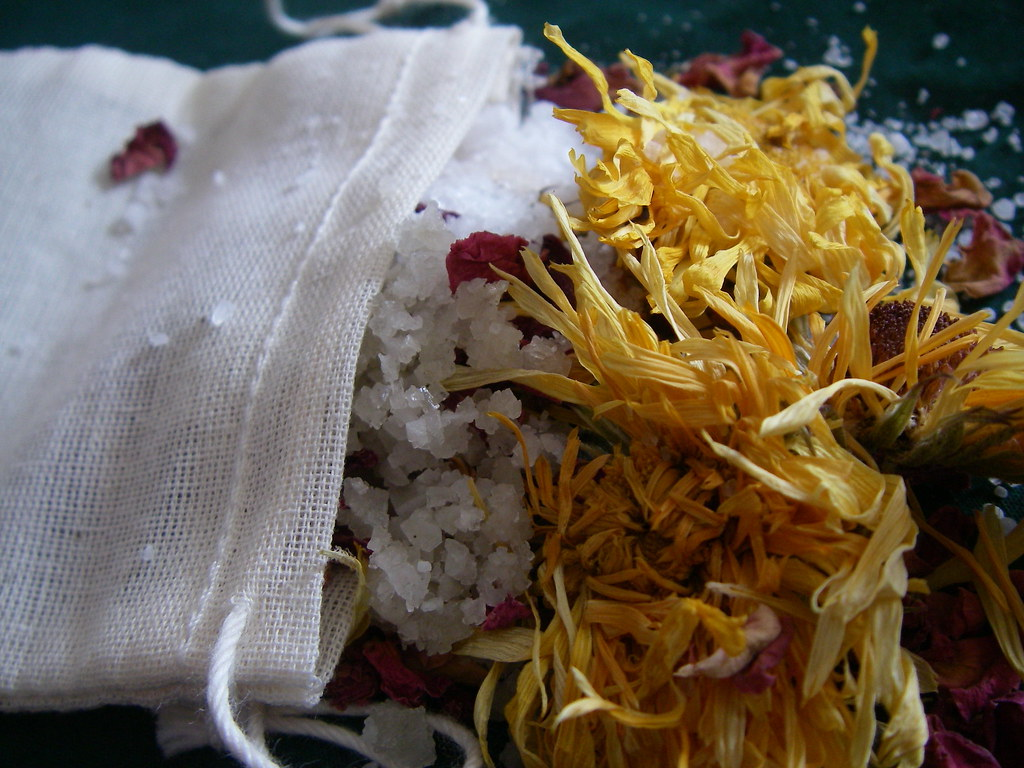 """Beautiful Skin"" Herbal Bath Salts by MisticalAcScents.etsy.com"