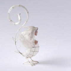 Paper and Wire Sculpture: Melusina