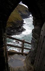 Door View (I R Jamez) Tags: door sea castle archaeology water cornwall waves steps doorway thesea epic mor tintagel kingarthur cornish kernow kernowek kernewek rodliff jamesrodliff