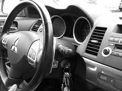 Mitsubishi Lancer 2008 Dashboard (anothersamchan) Tags: cars dashboard steeringwheel mitsubishilancer