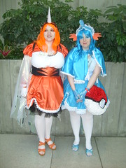 Seaking & Mudkips (pieisexactlythree) Tags: anime cosplay convention pokemon con 4chan seaking sakuracon pokeball mudkips sakuracon2009 sakuracon09