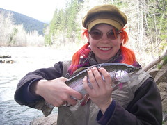 Renee's first Fly Caught Fish!