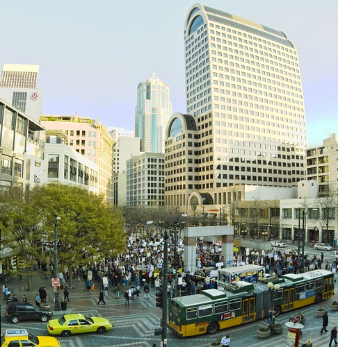 Seattle Tea Party Panorama - (c) 2009 John Clifford