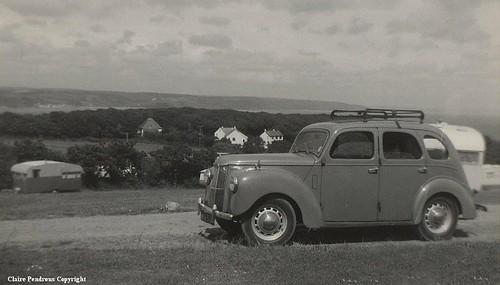 Saundersfoot Caravan Site, Pembrokeshire, June 1963, and some World history!