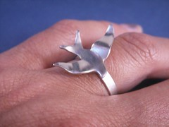 Sterling Silver Swallow Ring (bbel-uk) Tags: silver necklace jewelry jewellery bbel
