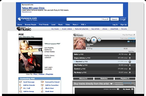 POE on MySpace Music - Free Streaming MP3s, Pictures & Music Downloads