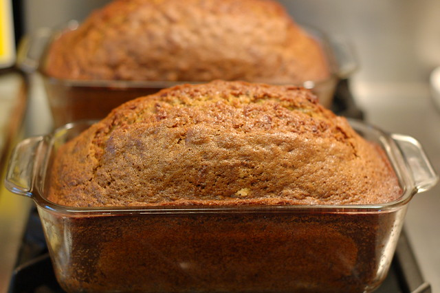 Zucchini breads just out of the oven