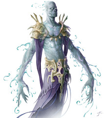 Ebulon (Paulos Varrus) Tags: male water wizard acid aura sorceror arcane genasi watersoul