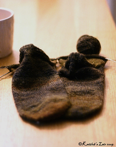 calico handspun socks 1