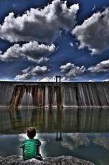 thoughts (sRagnar Fotografi) Tags: boy sky river nikon thought texas dam medina f28 hdr d80 1424mm sragnar medinariverdam