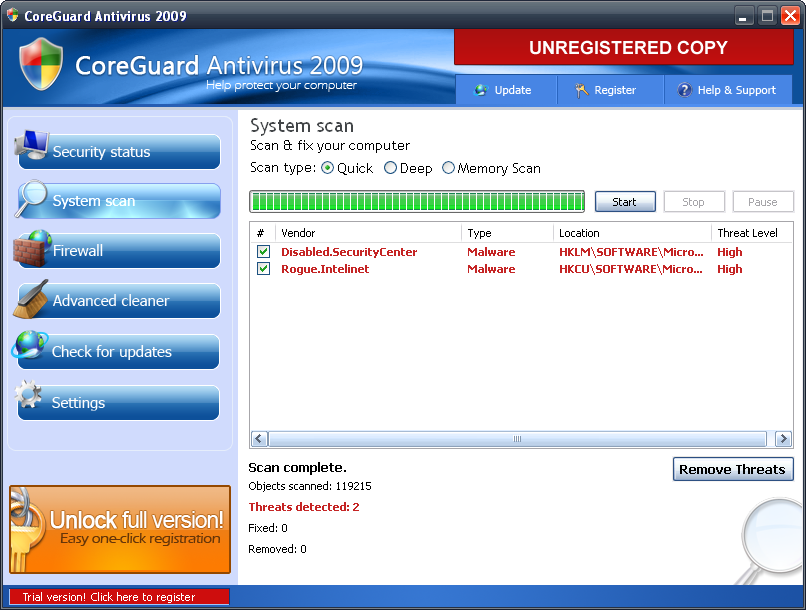 Antivirus falsos