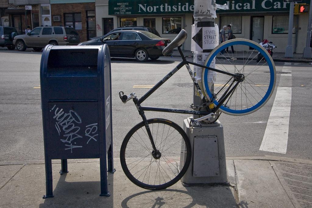 Mailbox blue