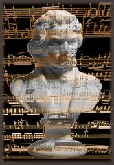 BUST & SONATA (Cheyberpunk!) Tags: white black art gold piano beethoven bust classical classicalmusic funeralmarch funereal sonatapathetique dearhmask