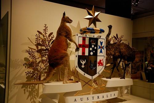 Coat of arms of Australia in Melbourne Museum