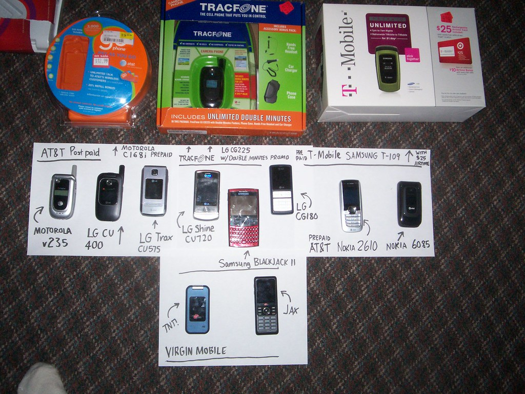 My Cellular Mobile Phone Collection