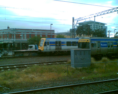 An X'Trapolis train visits Caulfield