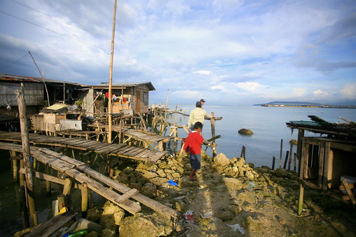stilt houses community in Tibongco