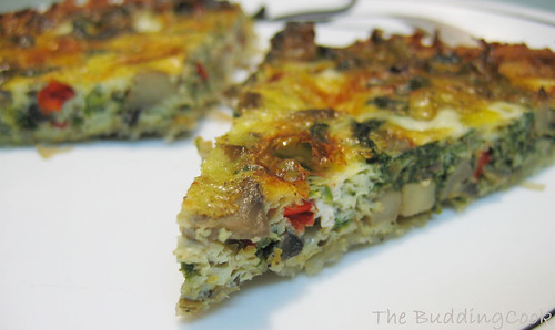 Mushroom & spinach quiche 2
