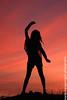 Let's Dance ! (ツMaaar) Tags: sunset bali girl silhouette pose dance model siluet wina serangan seranganisland