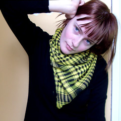 swellyellow04 (hopelesslovley) Tags: selfportrait girl yellow brownhair scalf
