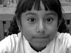 2nd grade girl, Salinas (yaxchibonam) Tags: california bw salinas immigration sanchezkids