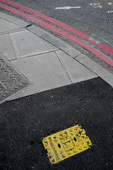 Street geometry, London (artisan7) Tags: urban abstract streets london pavement southwark urbangeometry urbanmarkuplanguage doubleredlines abstractcomosition streetgeometry